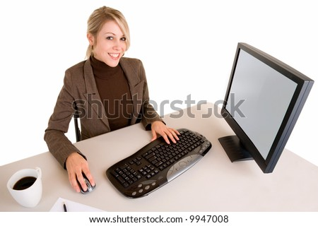 Beautiful Businesswoman at her Desk