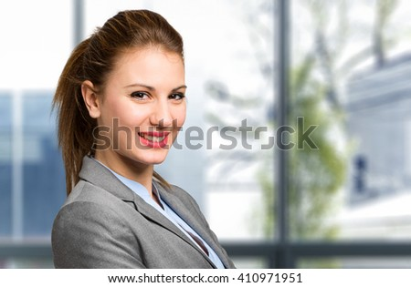 Beautiful businesswoman portrait - stock photo