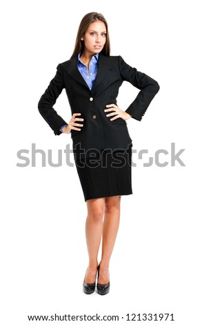Beautiful businesswoman portrait full length