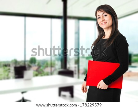 Beautiful businesswoman portrait in a modern office