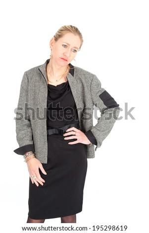 Beautiful businesswoman posing - stock photo