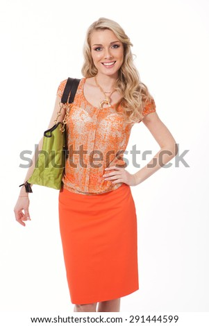 Beautiful Busyness Woman  Fashion Model