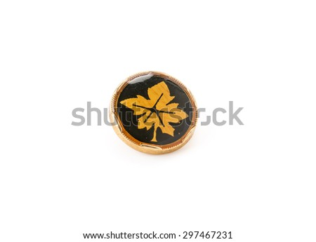 beautiful button on white background