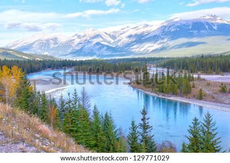 Beautiful Canadian Landscape, Alberta, Canada - stock photo