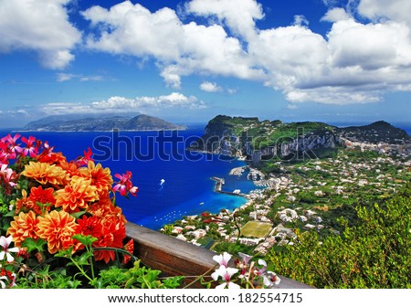 beautiful Capri island - Italian travel series - stock photo
