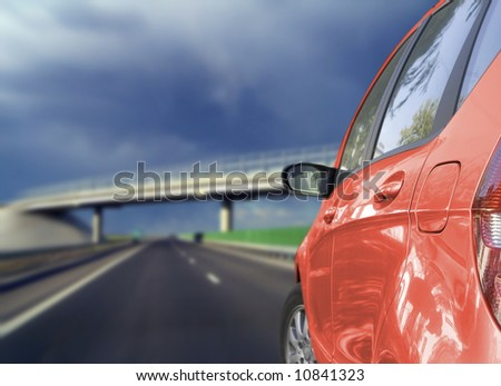 Beautiful car. Great color. Very good details. - stock photo