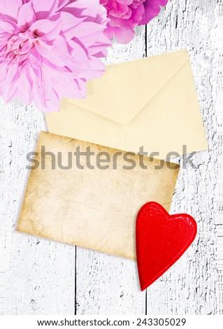 Beautiful card for congratulation - stock photo