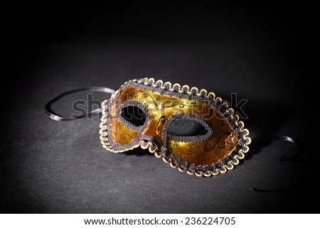 Beautiful carnival mask isolated on black - stock photo