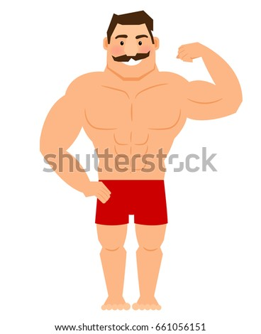 Muscle arm stock images royalty free images vectors - Cartoon body builder ...