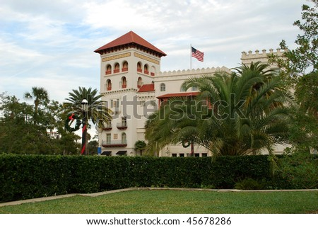 Beautiful Casa Monica in St. Augustine, Florida, USA - stock photo