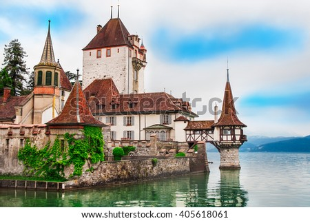 Beautiful Castle Oberhofen in Switzerland.