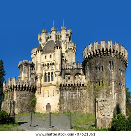 Beautiful castle of Butron. Basque country, Spain - stock photo