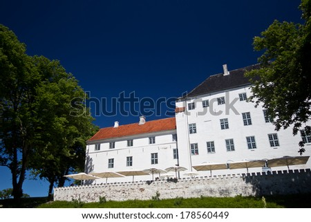 beautiful Castle of Dragsholm, Zeland, Denmark. - stock photo