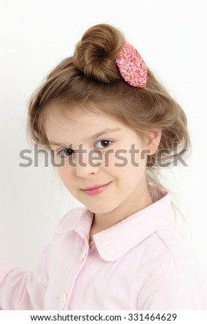 Beautiful caucasian little girl portrait - stock photo