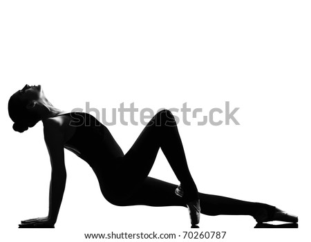 beautiful caucasian tall woman ballet dancer tiptoe pose full length on studio isolated white background - stock photo