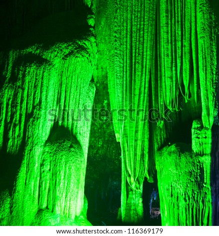 Beautiful caves in National park thailand - stock photo