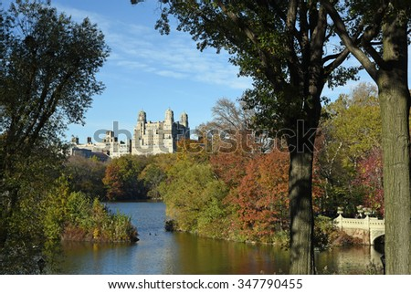 Beautiful Central Park, the Jewel of Manhattan - stock photo