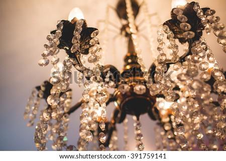 Beautiful chandelier - stock photo