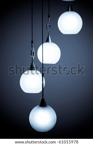 Beautiful chandelier isolated - stock photo