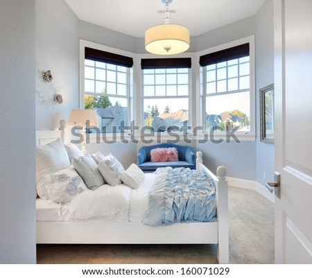 Beautiful Child's Bedroom in Luxury Home - stock photo