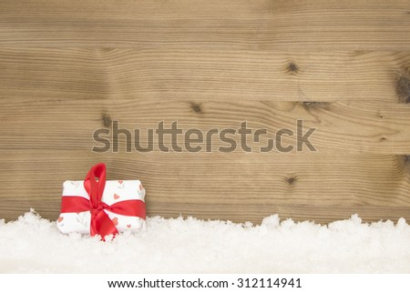 beautiful christmas background with snow and copy-space - stock photo