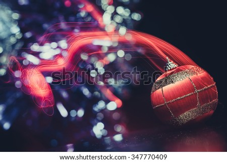 beautiful christmas ball light background