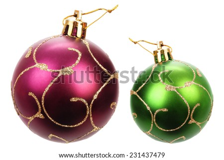 Beautiful christmas balls - stock photo