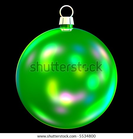 beautiful christmas bauble isolated on black - stock photo