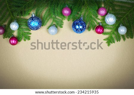 Beautiful Christmas decoration background. Xmas and new year.