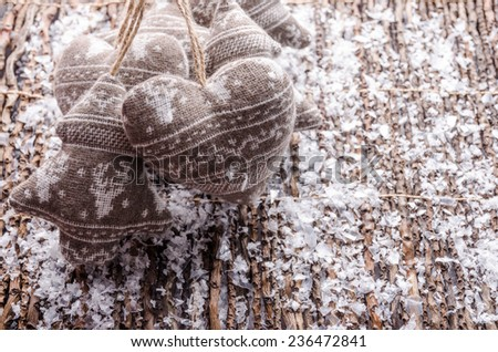Beautiful Christmas decorations and ornaments for the Christmas tree. - stock photo