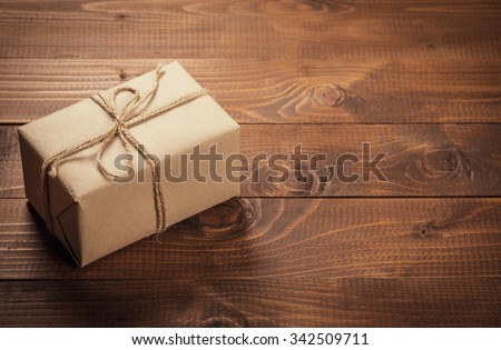 Beautiful Christmas holiday gift shopping background. Element for design - stock photo