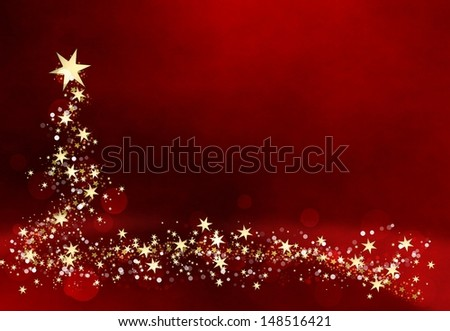 beautiful Christmas tree - stock photo