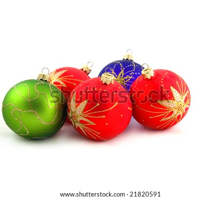 Beautiful Christmas - tree decorations - brilliant spheres