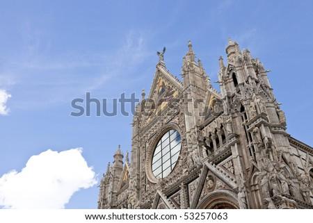 Beautiful Church in Siena - stock photo