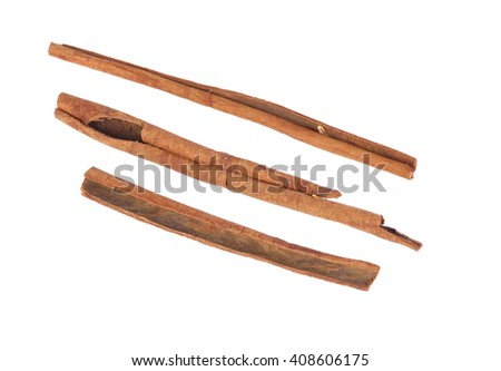 Beautiful Cinnamon sticks isolated on white background