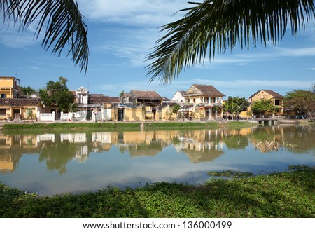 Beautiful city of Hoi An in Vietnam - stock photo