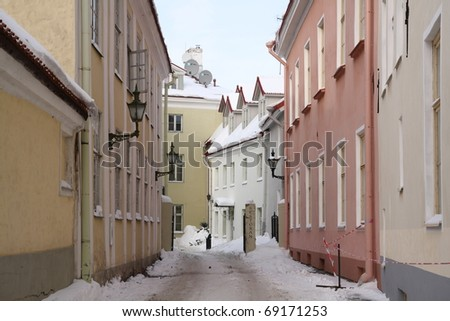 Beautiful City of Tallinn on a winter day