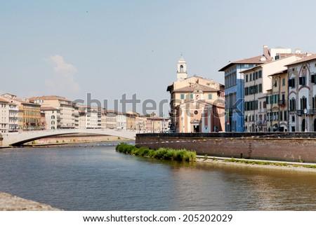 Beautiful cityscape of Pisa  - stock photo