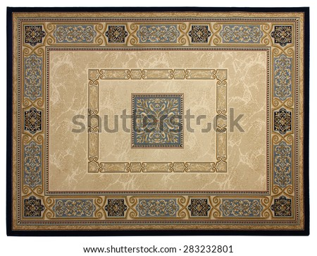 Beautiful classical carpet of machine work - stock photo