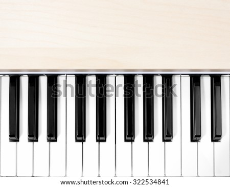 beautiful classical piano keys for music background - stock photo