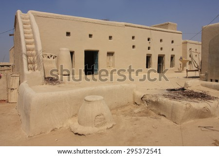 Beautiful clay house in Pakistan  - stock photo