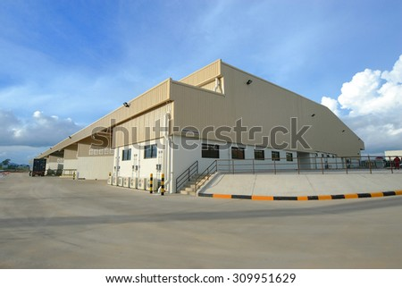 Beautiful clean factory in Thailand - stock photo