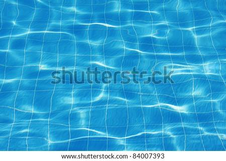 Beautiful clean pool water. - stock photo