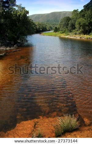 Beautiful clean river on the Garden Route, South Africa - stock photo