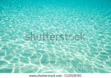 Beautiful clear underwater surface - stock photo