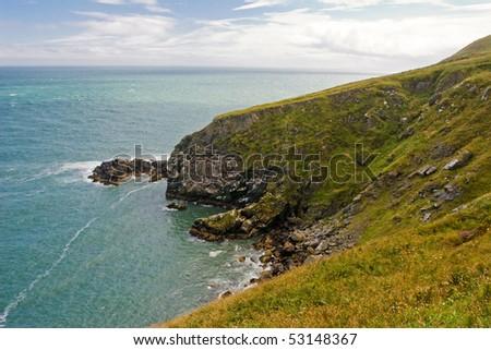 Beautiful cliffs in Howth, Ireland - stock photo