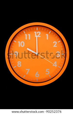 beautiful clock on the wall, 10 a.m., 10p.m. - stock photo