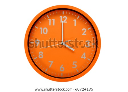 beautiful clock on the wall, 4h, 16h - stock photo