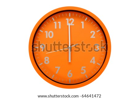 beautiful clock on the wall, 18h, 6h, business concept - stock photo