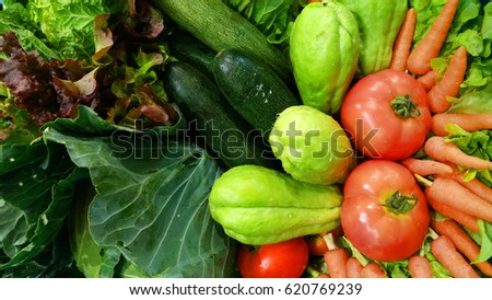 Beautiful closeup of vegetable as background : Healthy concept